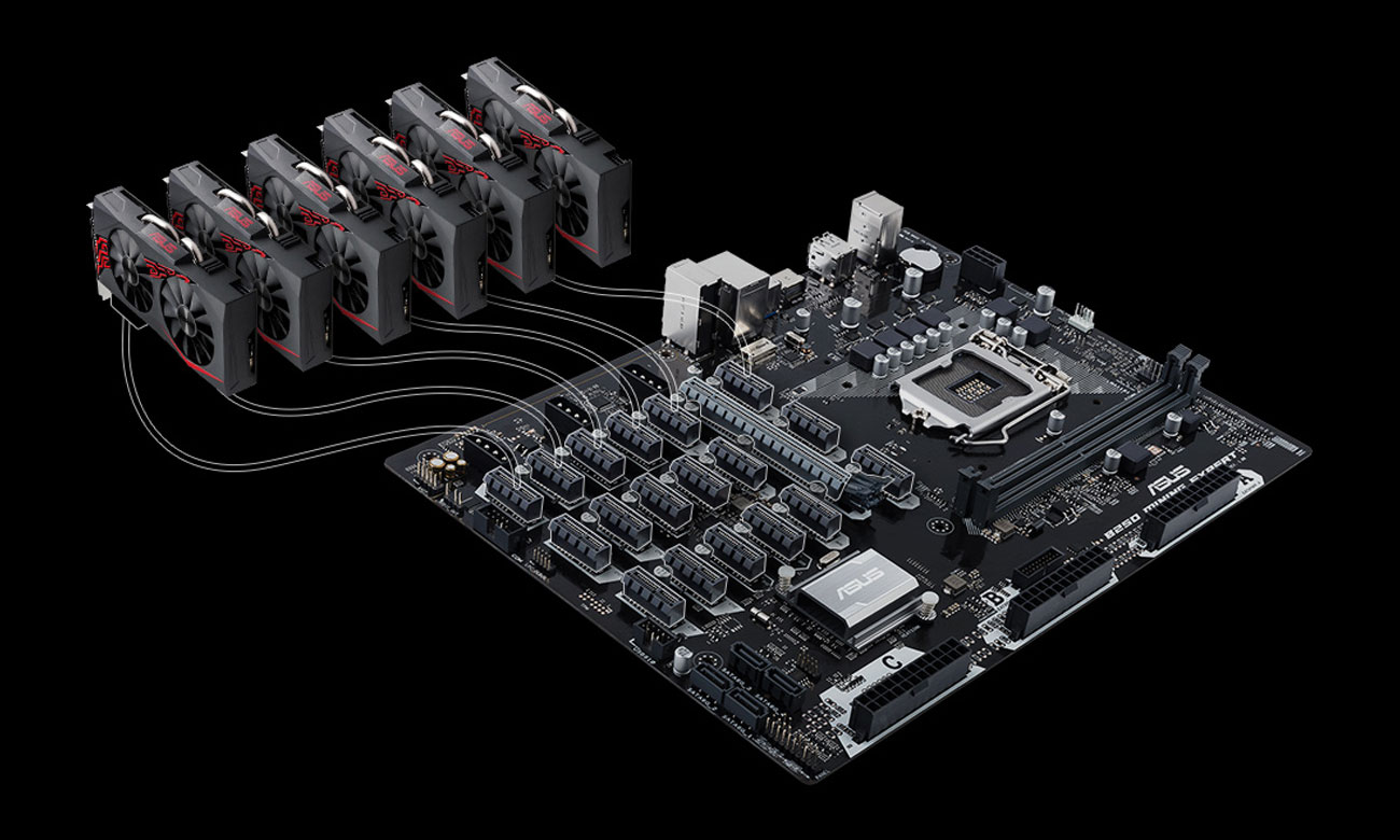 ASUS B250 MINING EXPERT Wydobycie