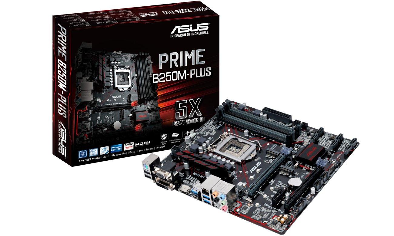 Płyta główna Socket 1151 ASUS B250M-PLUS (3xPCI-E DDR4 USB3/M.2)
