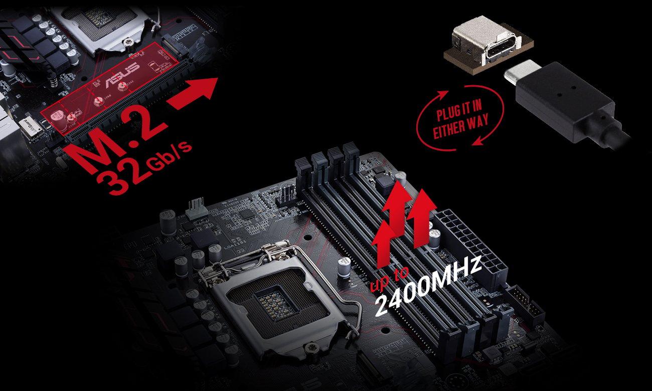 ASUS B250M-PLUS Obsługa RAM DDR4 SSD M.2 USB-C