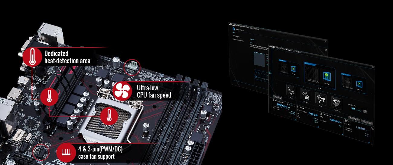 ASUS B250M-PLUS Chłodzenie Fan Xpert 2+