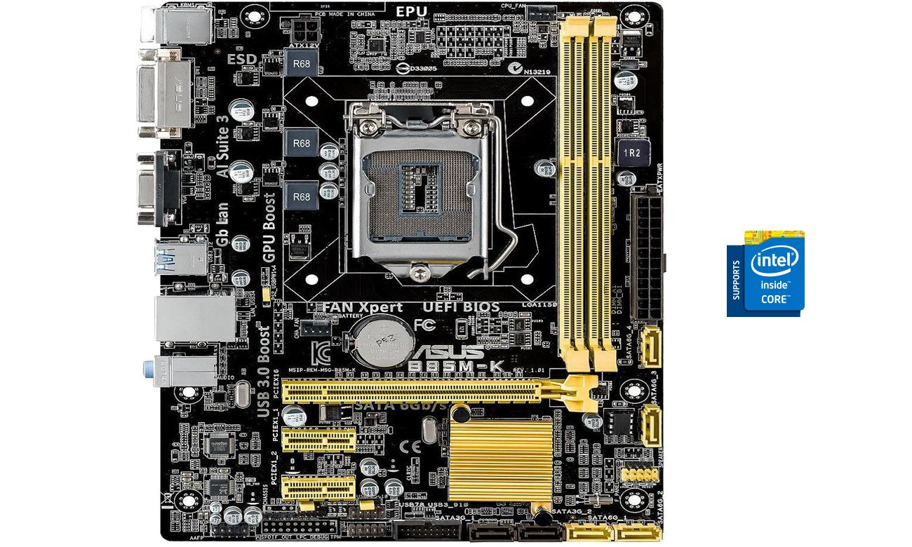 ASUS B85M-K Intel® LGA1150