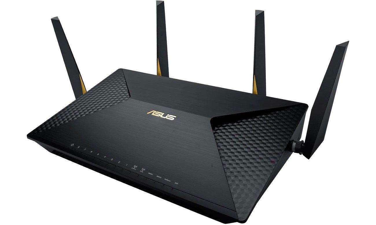 Router ASUS BRT-AC828 (2600Mb/s a/b/g/n/ac, 2xUSB, 8xLAN, M.2) MU-MIMO DualBand AC