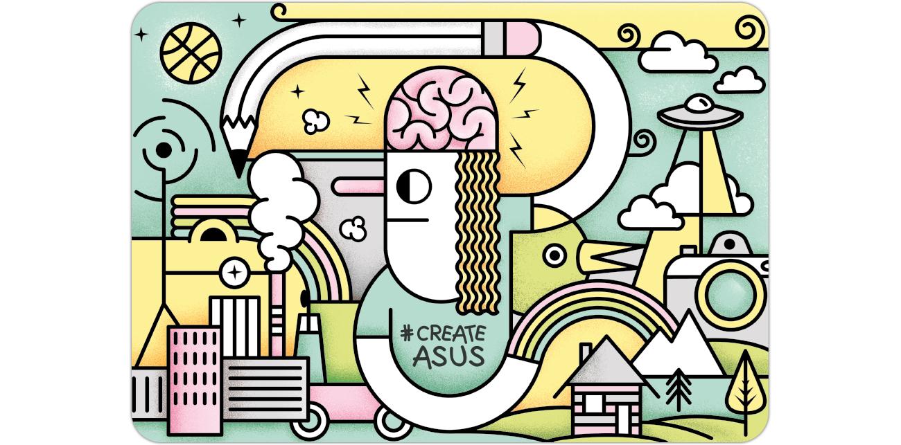 Naklejka na laptopa ASUS CreateAsUs Cover