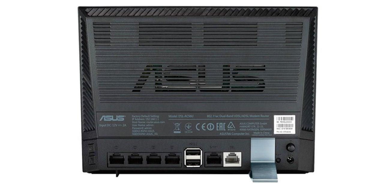 ASUS DSL-AC56U pełna swoboda elastyczność dsl ethernet 3g 4g lte