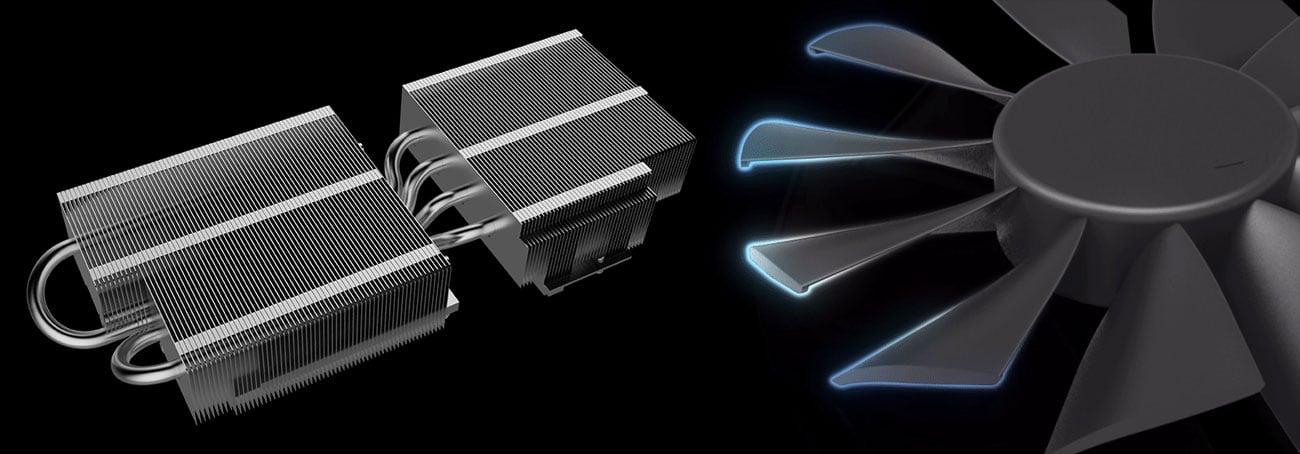 ASUS GeForce RTX 2060 DUAL OC Chłodzenie