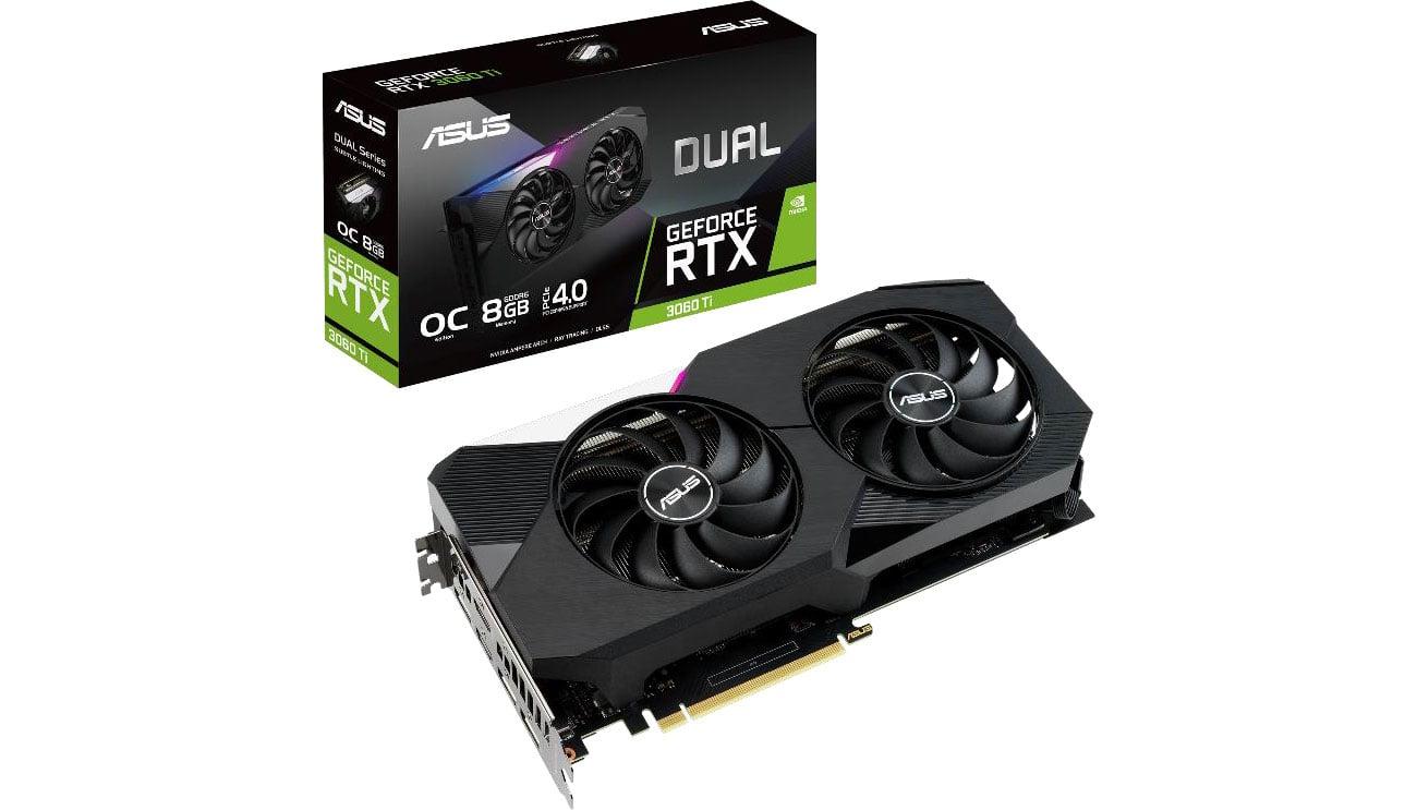 Karta graficzna NVIDIA ASUS GeForceRTX 3060 Ti DUAL 8GB GDDR6 DUAL-RTX3060TI-O8G