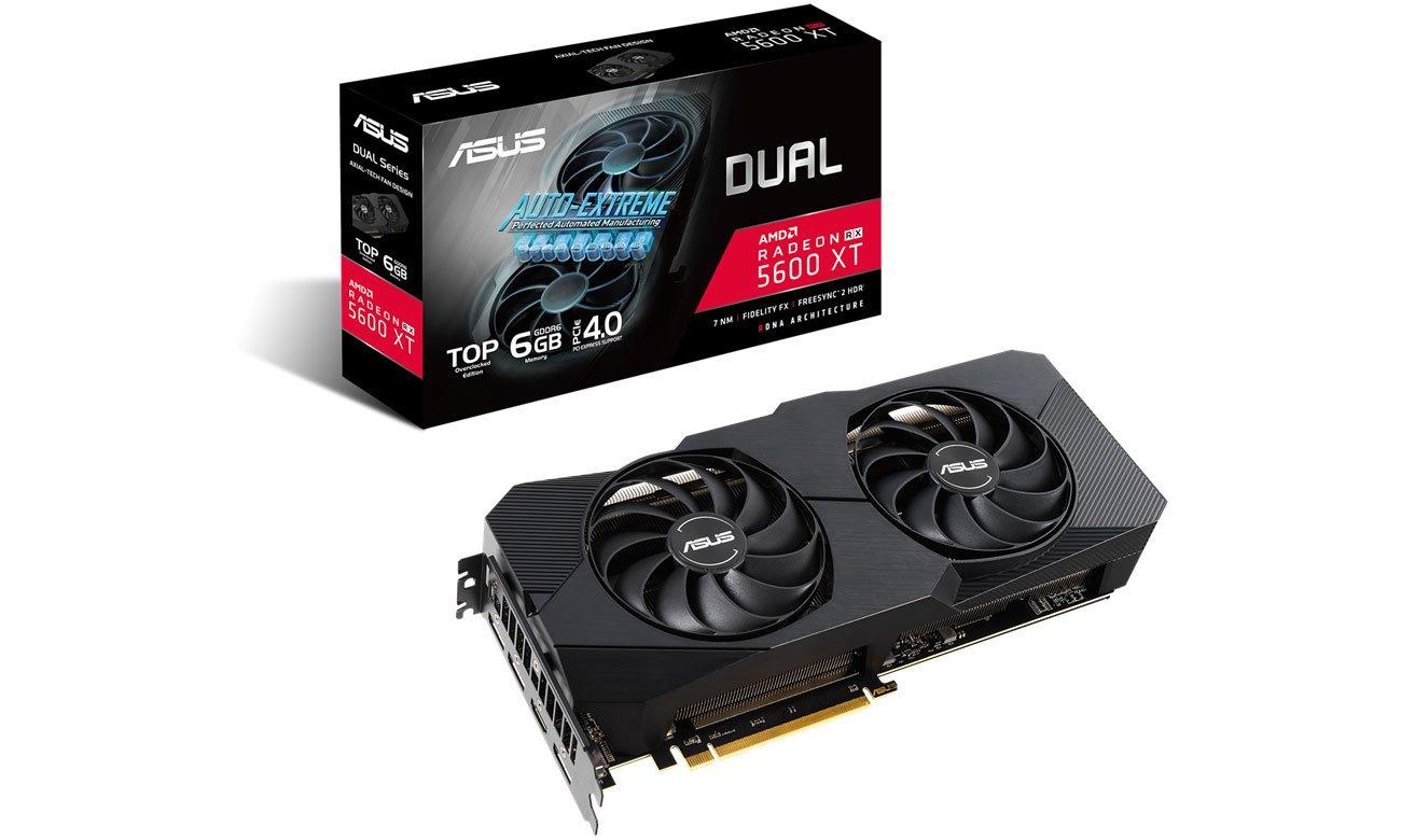 Karta graficzna AMD ASUS Radeon RX 5600 XT DUAL EVO 6GB GDDR6 DUAL-RX5600XT-T6G-EVO