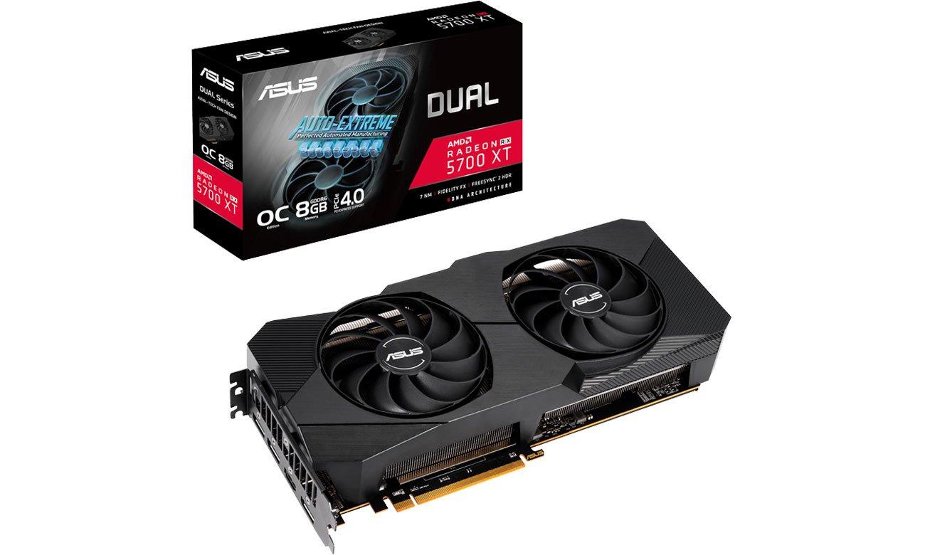Karta graficzna AMD ASUS Radeon RX 5700 XT Dual Evo OC 8GB GDDR6 DUAL-RX5700XT-O8G-EVO
