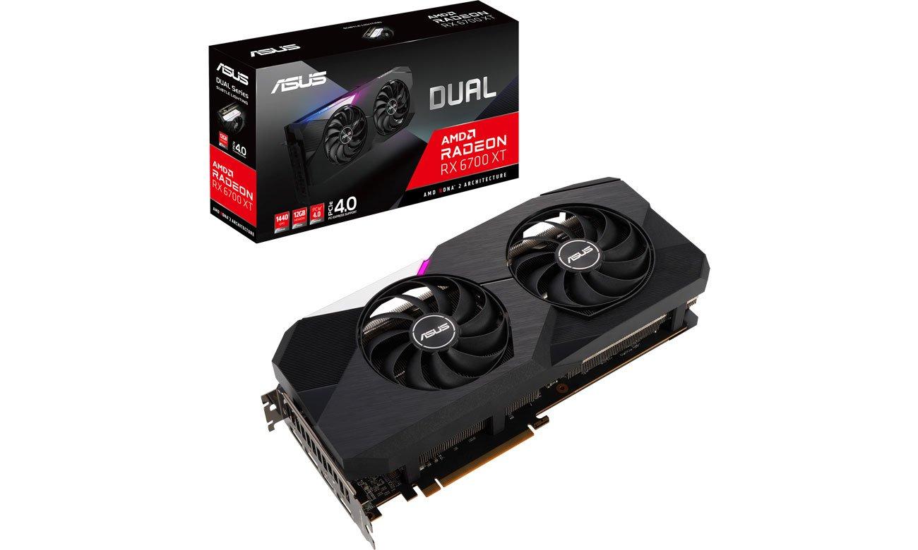 Karta graficzna AMD ASUS Radeon RX 6700 XT DUAL 12GB GDDR6 DUAL-RX6700XT-12G
