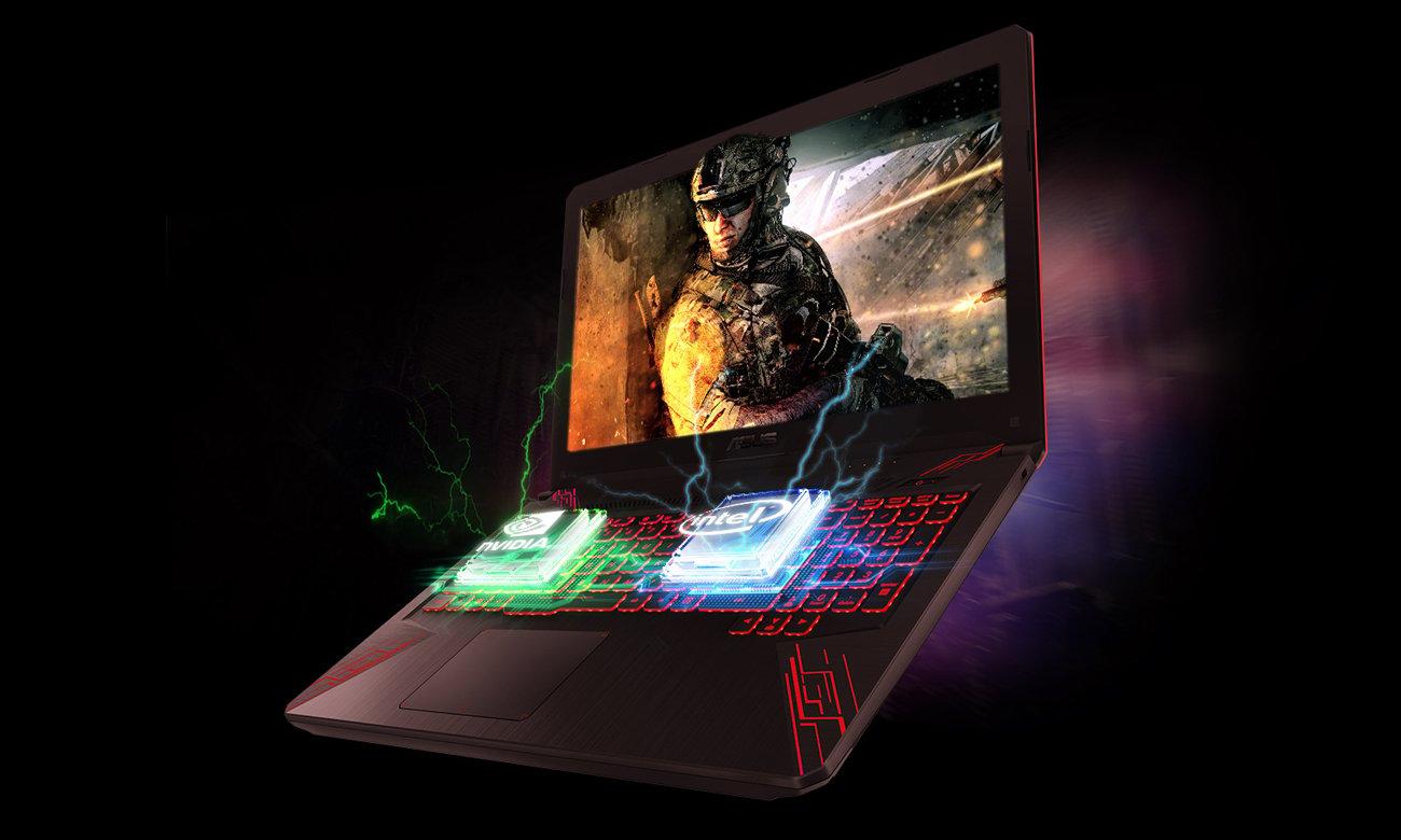 Asus TUF Gaming FX504 procesor intel core i7 ósmej generacji