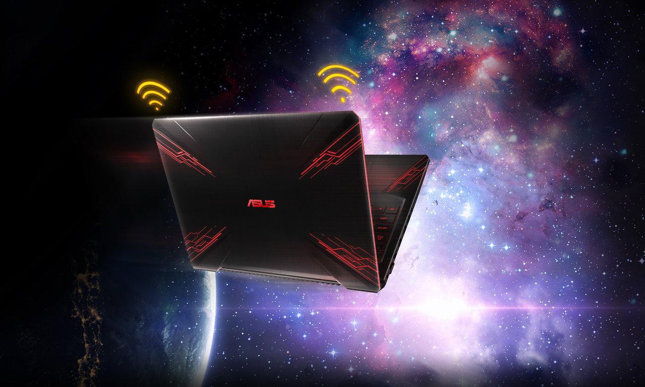 Asus TUF Gaming FX504 prędkość WiFi intel technologia