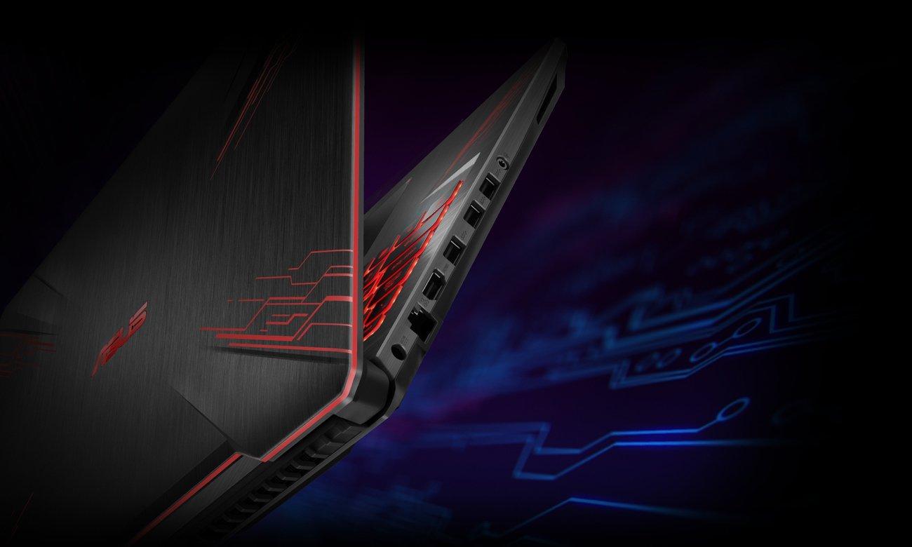 Asus TUF Gaming FX504 łączność usb hdmi gniazda