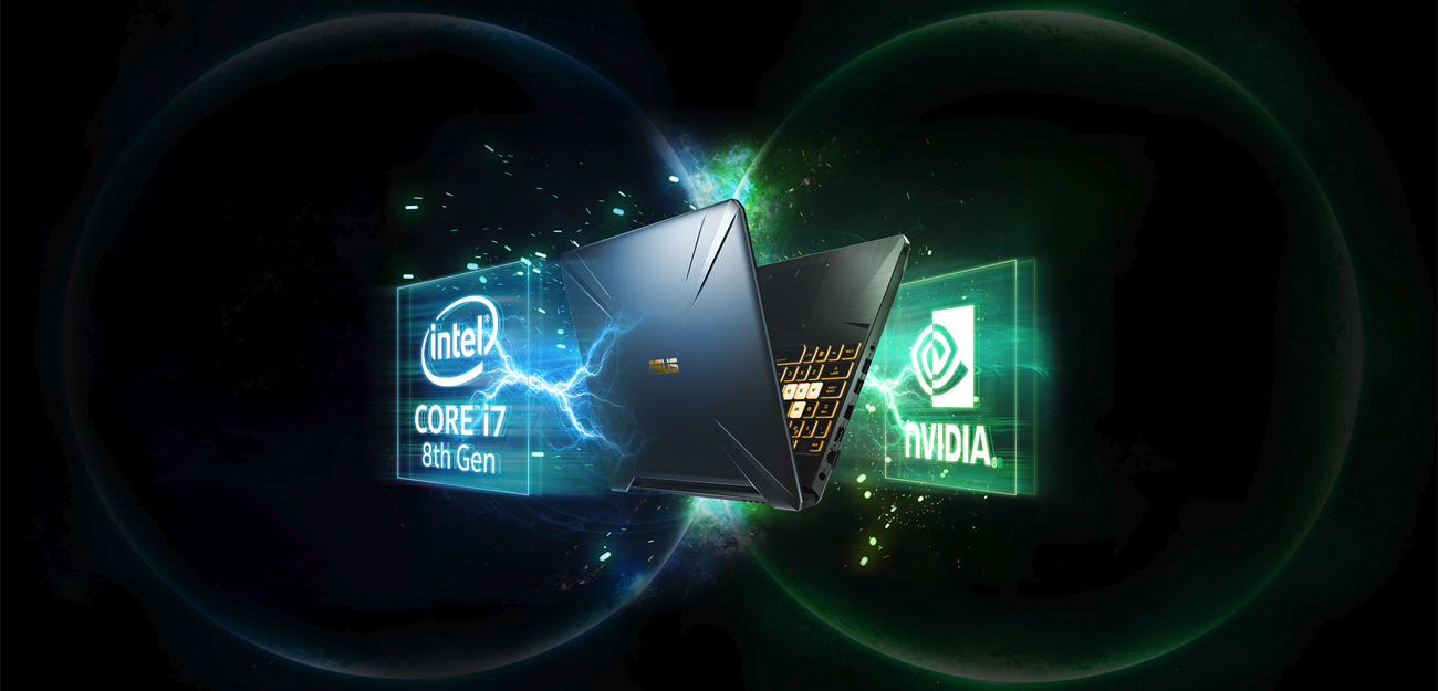 Procesor Intel Core i7 ósmej generacji ASUS TUF Gaming FX505