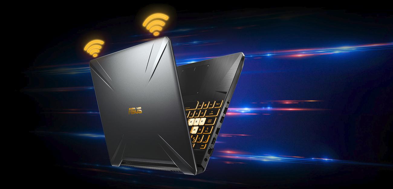 ASUS TUF Gaming FX505 wyższa prędkość większy zasięg