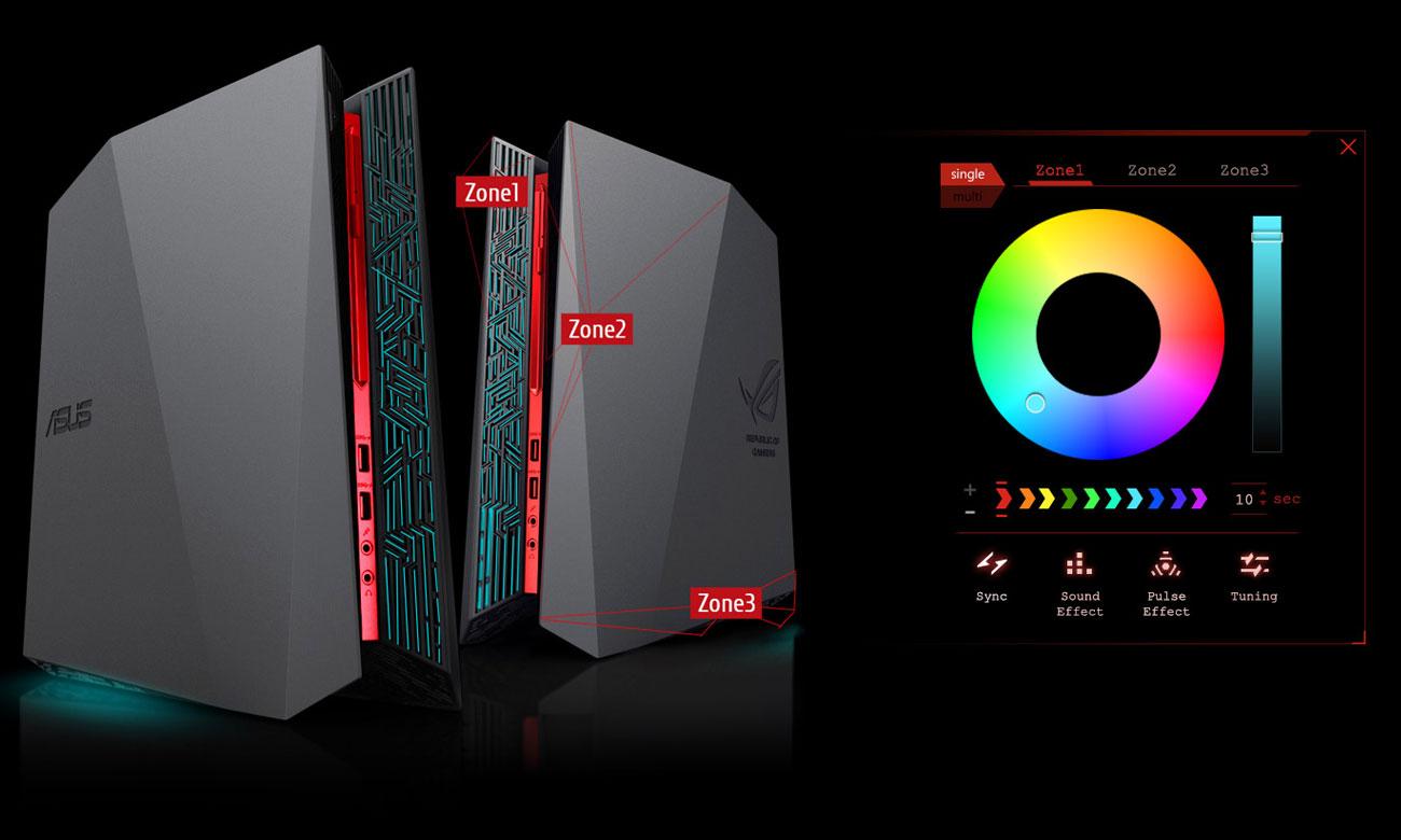 ASUS G20CB-PL015T efekty świetlne 8mln kolorów