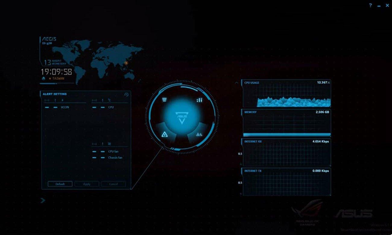ASUS G20CB-PL015T aplikacja wydajność aegis narzędzie