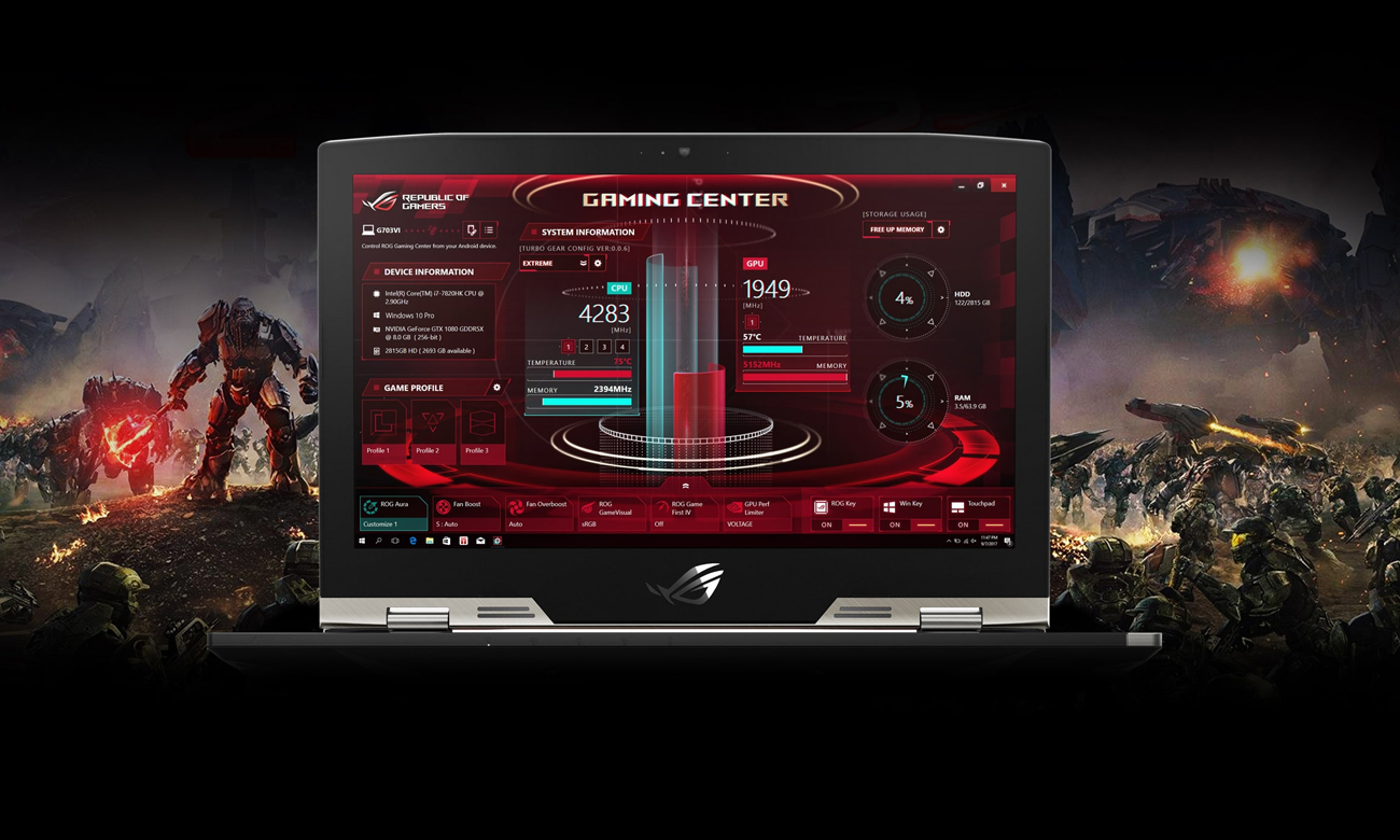 Asus ROG Strix G703GI ROG Gaming Center