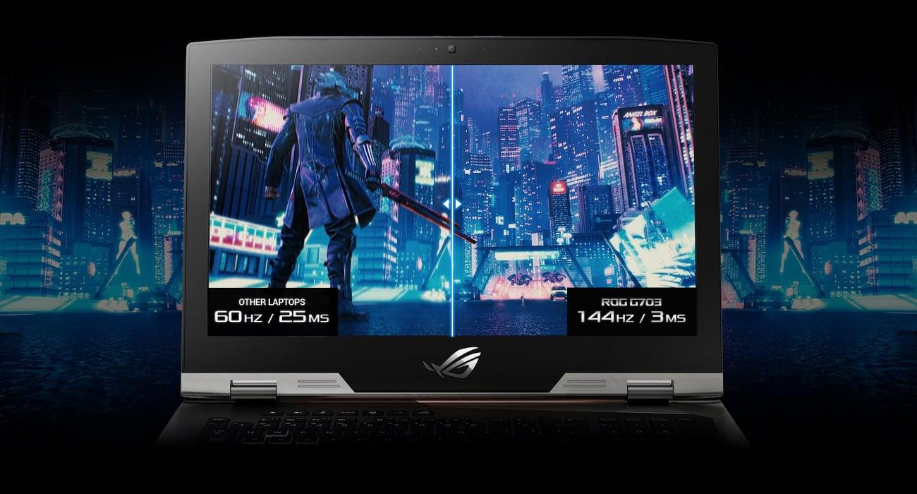 Asus ROG G703GX ultraszybki ekran 144Hz