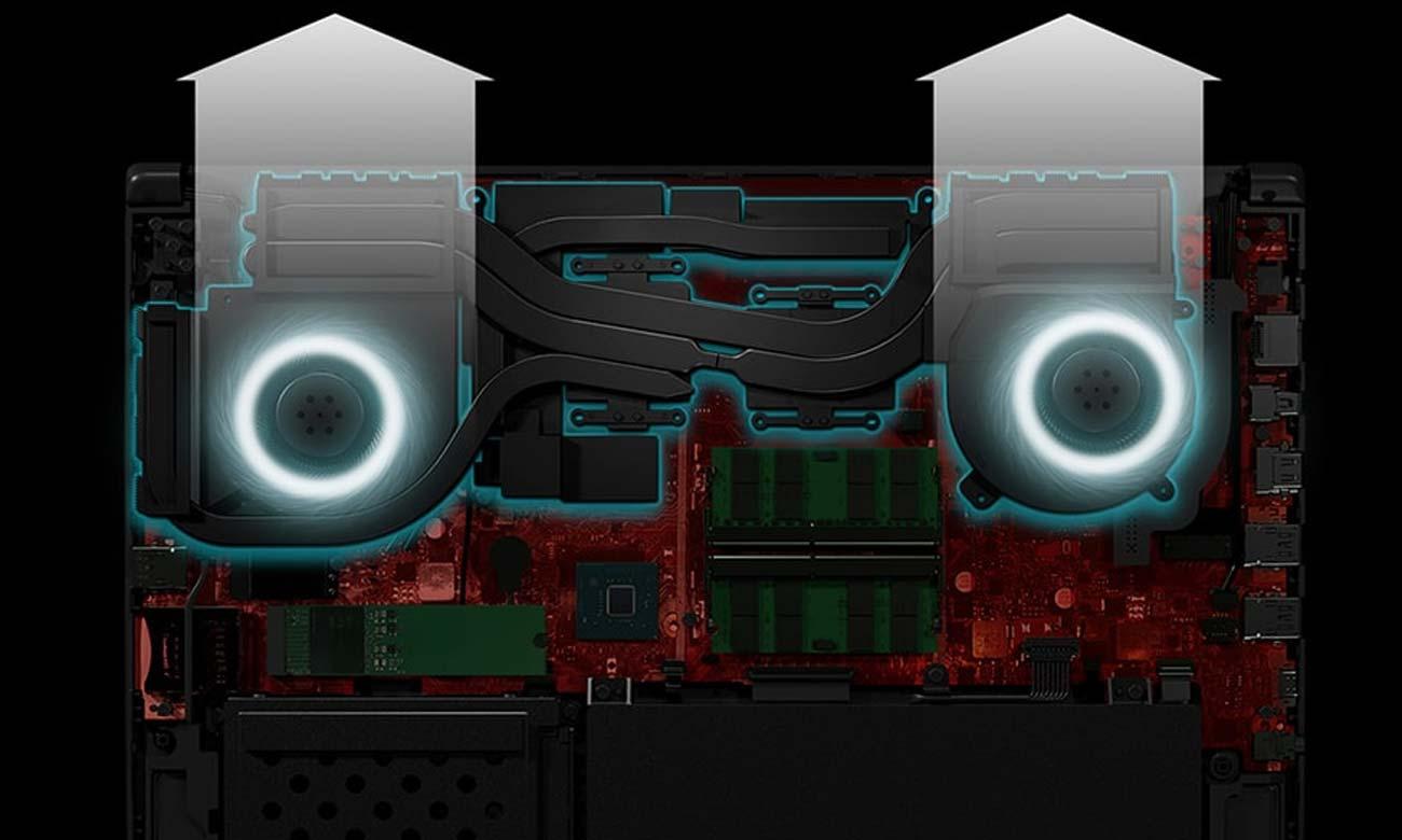 ASUS ROG Strix GL504GM system chłodzenia