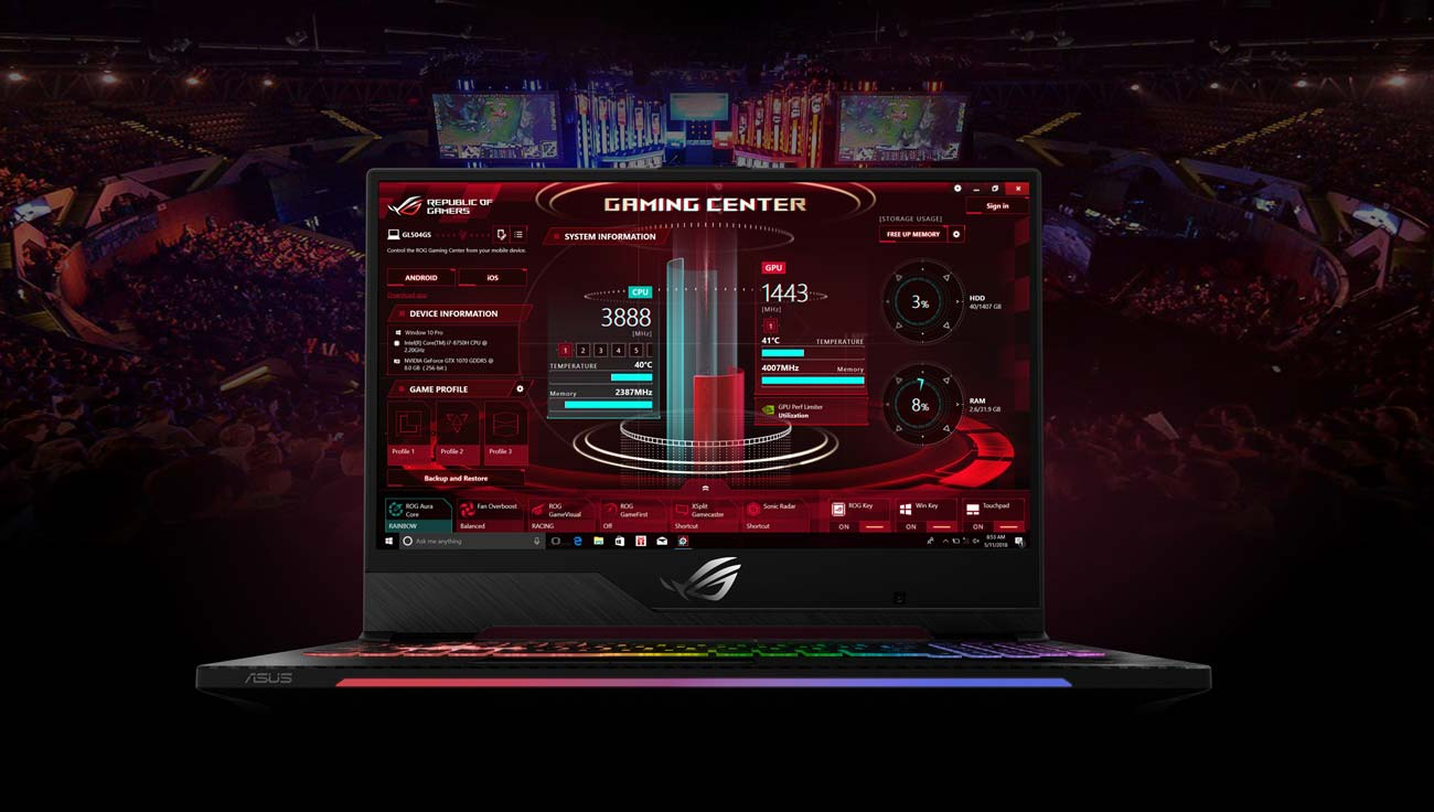 ASUS ROG Strix GL504GM ROG Gaming Center