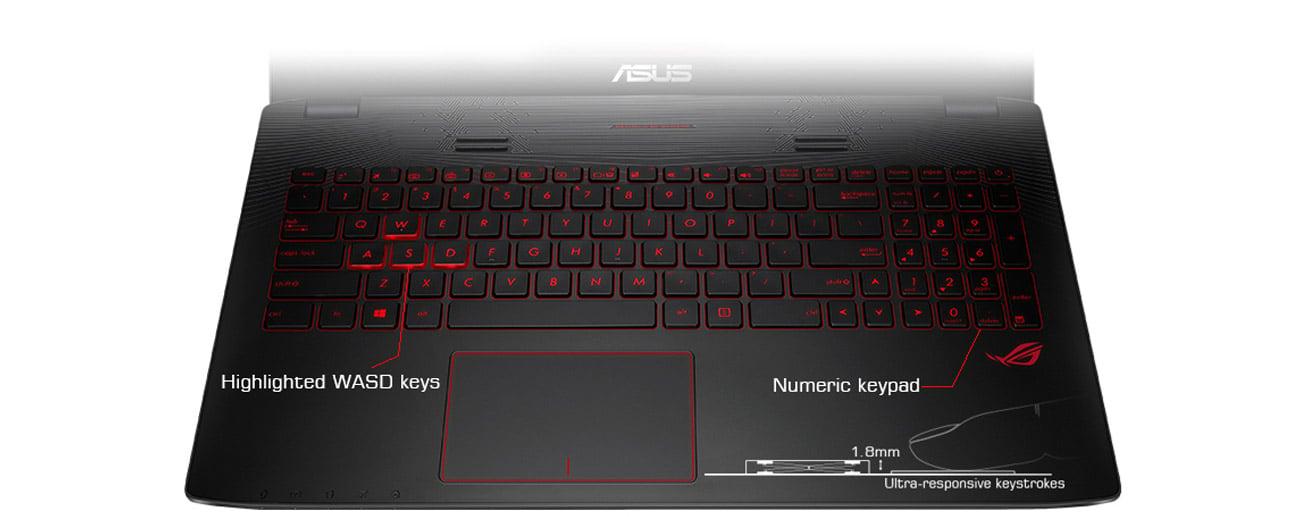 Laptop ASUS GL552VW-DM775 podświetlone klawisze