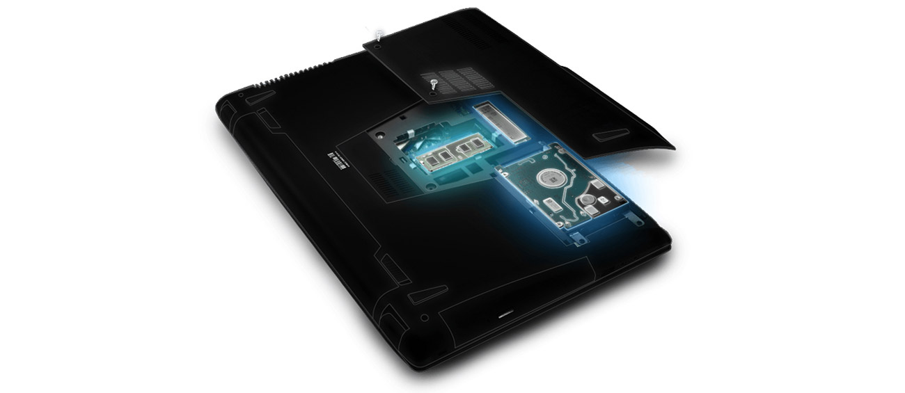 Laptop ASUS GL552VW-DM775 łatwa rozbudowa podzespoły