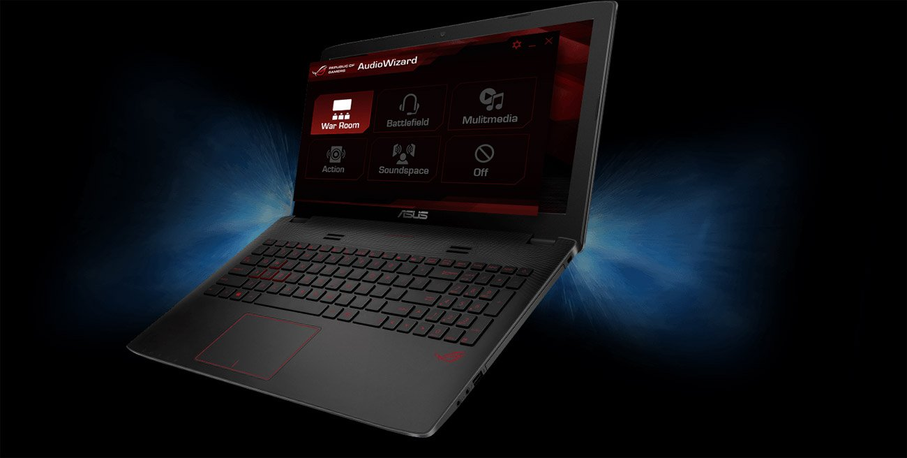 Laptop ASUS GL552VW-DM775 technologia SonicMaster perfekcyjny dźwięk