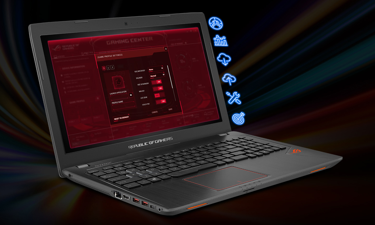 ASUS ROG Strix GL553VD ROG GAMING CENTER