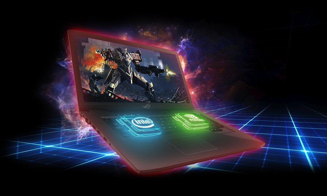 ASUS ROG Strix GL703GE procesor intel core i7 ósmej generacji