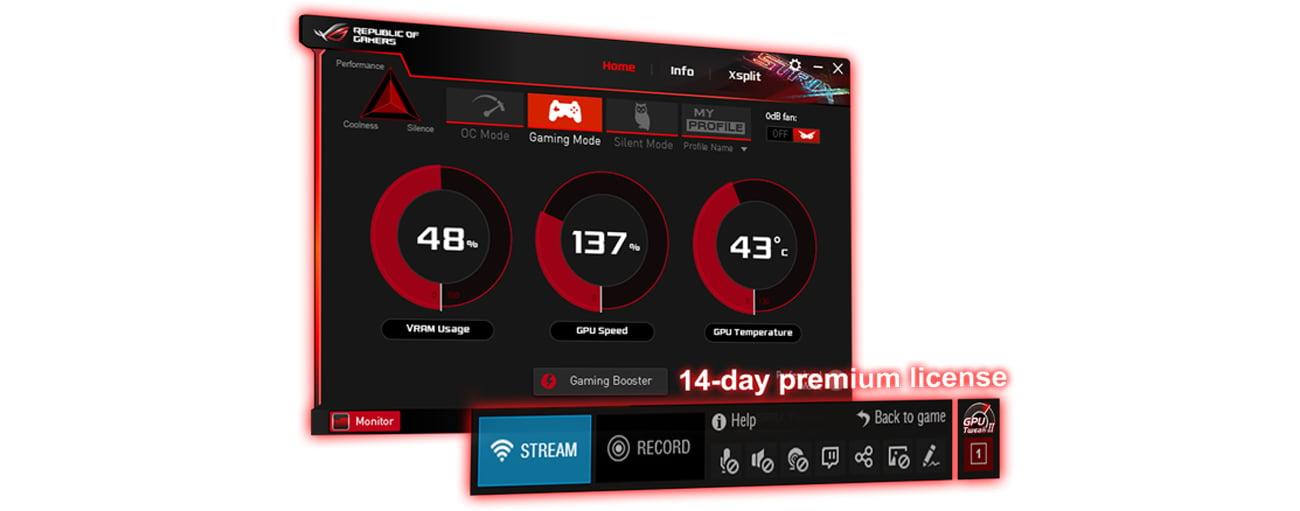 GPU Tweak II z XSplit Gamecaster