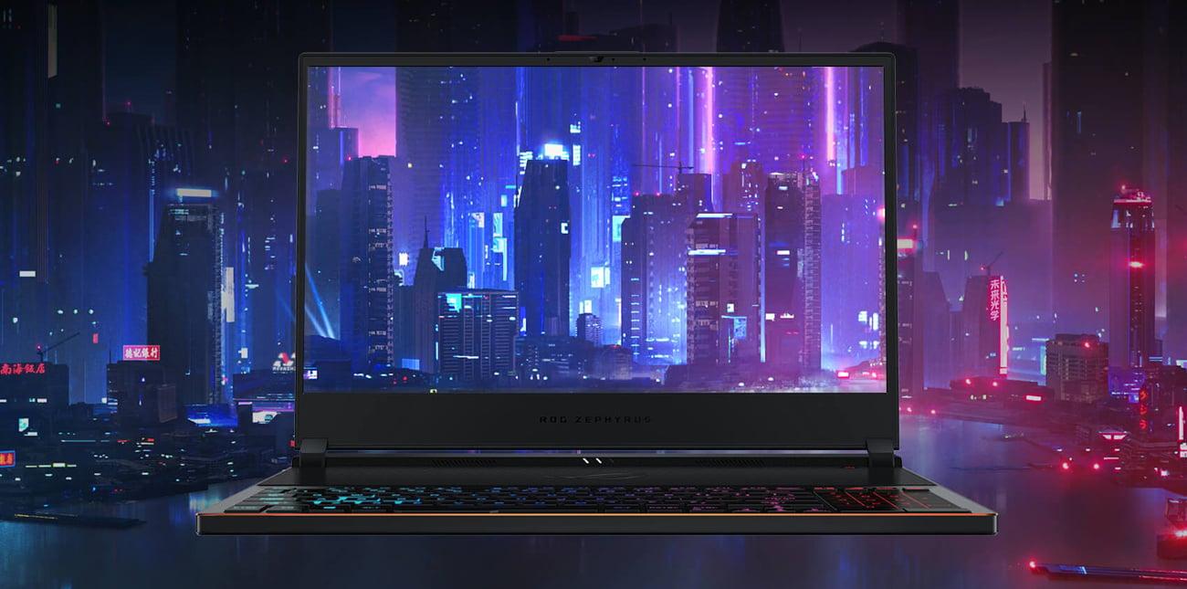 ASUS ROG Zephyrus S ekran klasy IPS 144 Hz