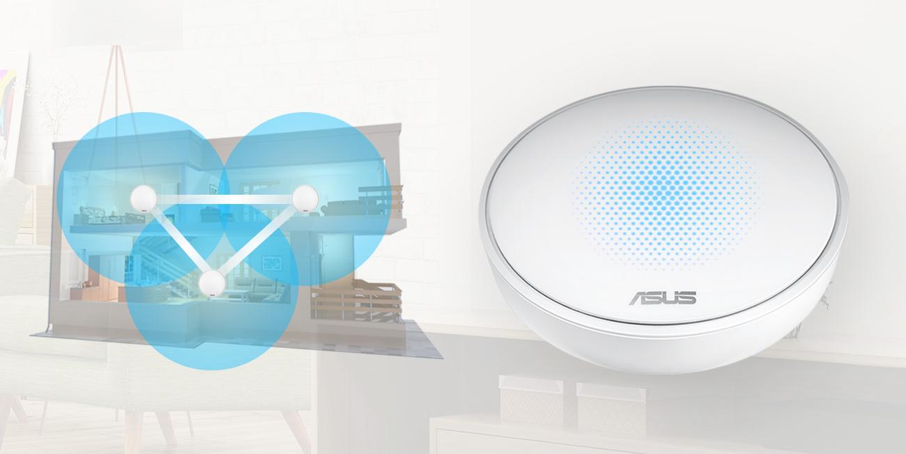 System Wi-Fi ASUS Lyra zestaw 3szt. MAP-AC2200