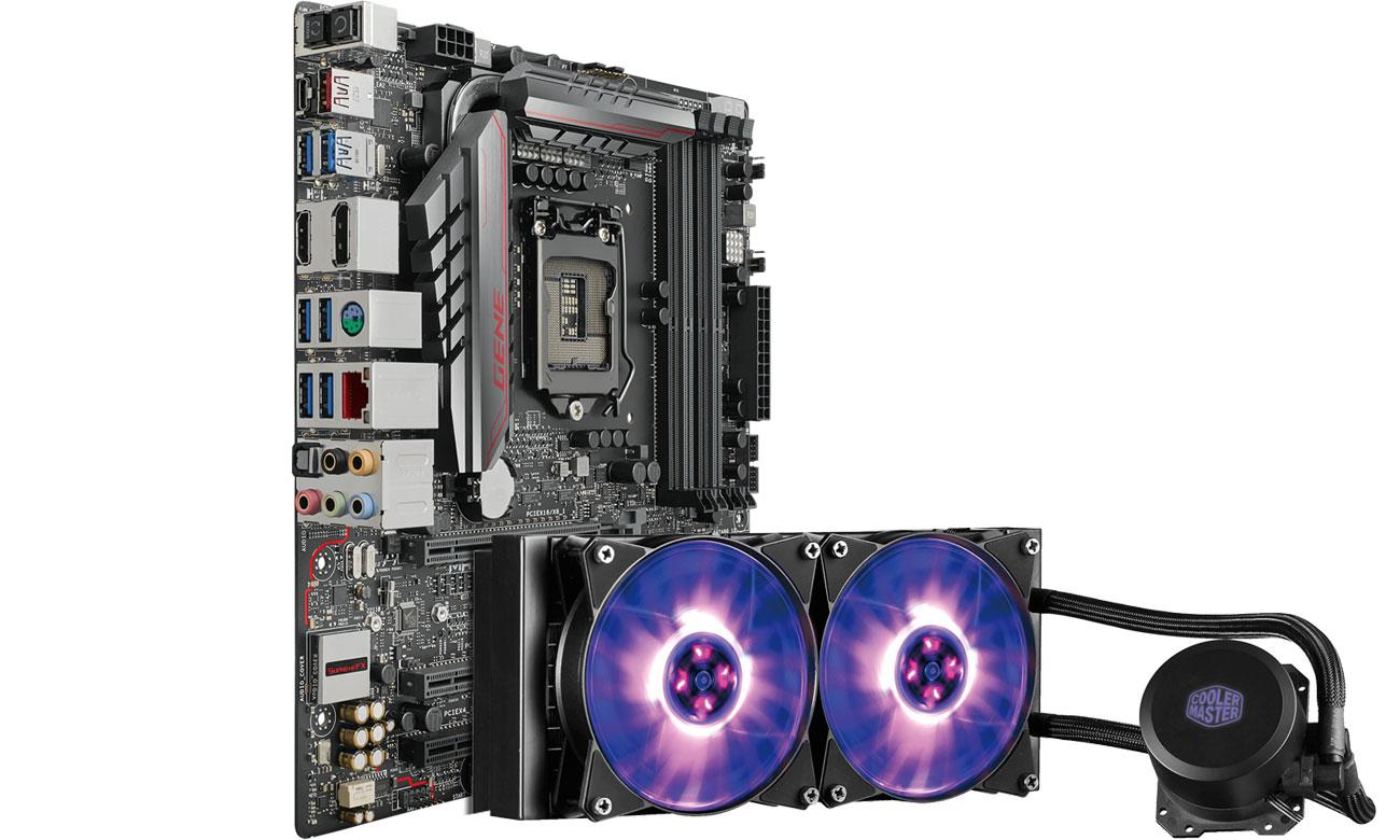 Zestaw podzespołów ASUS MAXIMUS VIII GENE + MasterLiquid ML240L RGB