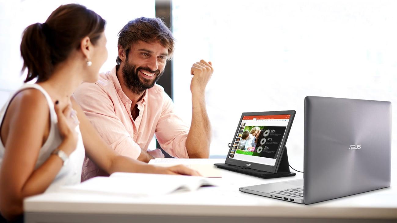 ASUS MB169C+ czarny technologia matrycy ips