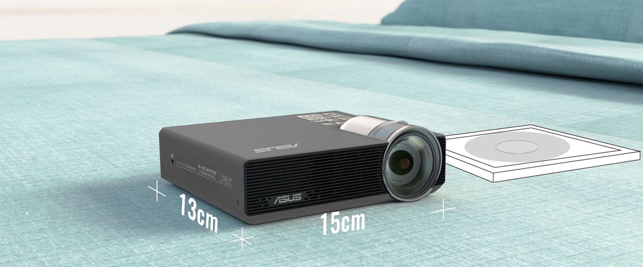 Projektor ASUS P3E Kompaktowy rozmiar