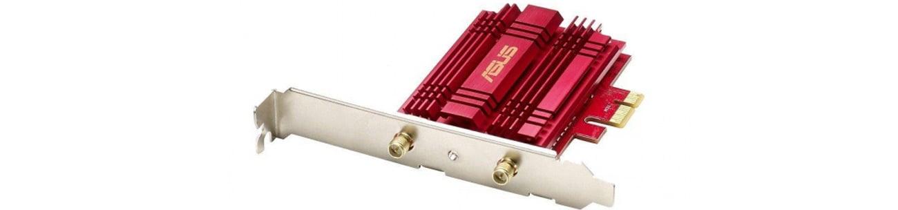 ASUS PCE-AC56 Aluminiowy radiator