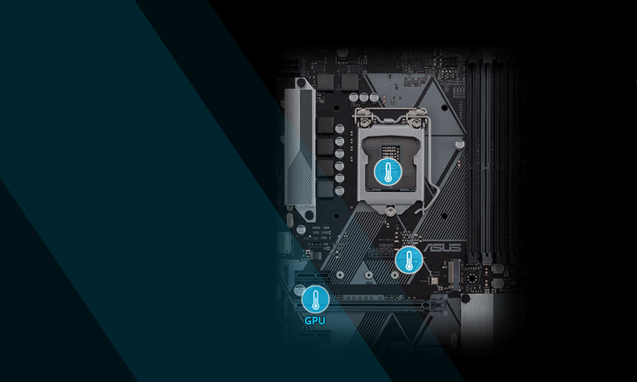 Płyta główna Asus PRIME H310M-A aplikacja chłodniejsza konstrukcja