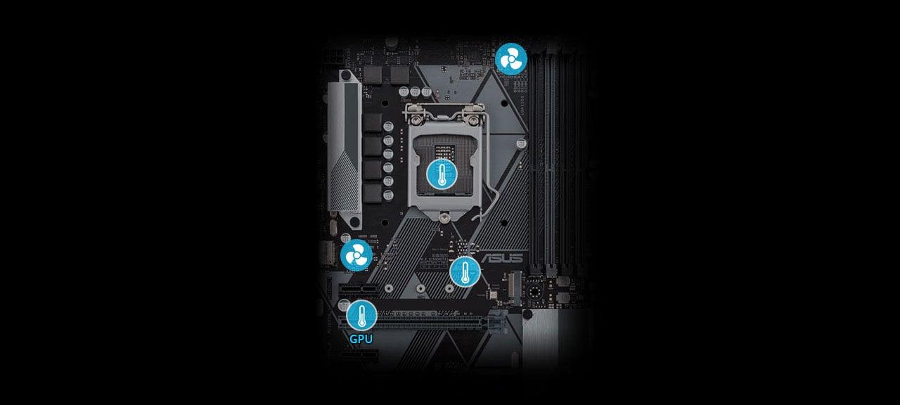 Płyta główna Asus PRIME H310M-K Sterowanie chłodzeniem