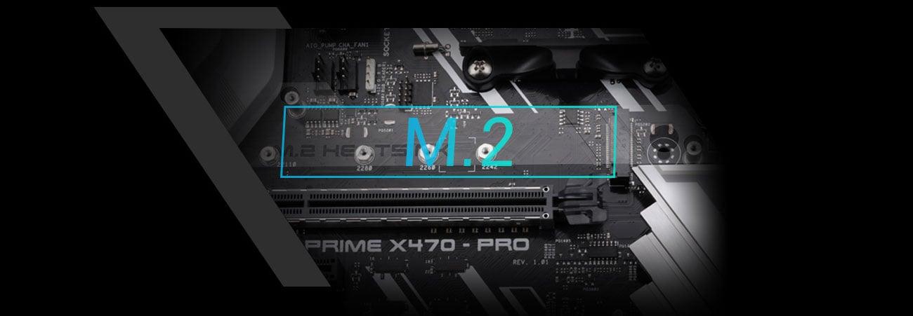 ASUS PRIME X470-PRO Złącze PCIe M.2 NVMe