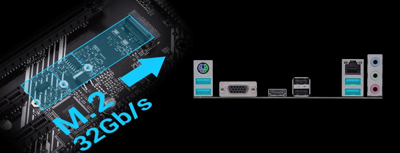 ASUS PRIME A520M-K - Złącza M.2, USB