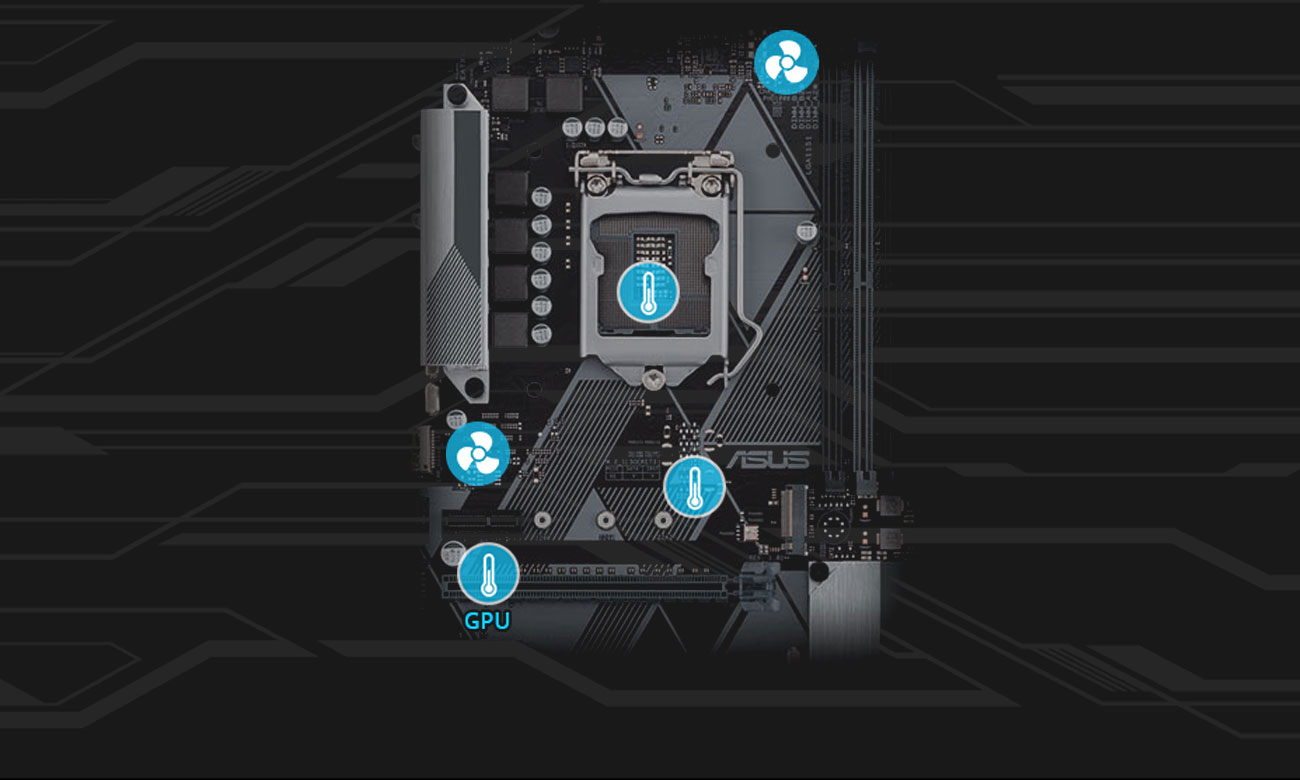 Asus Prime B360-Plus Chłodniejsza konstrukcja