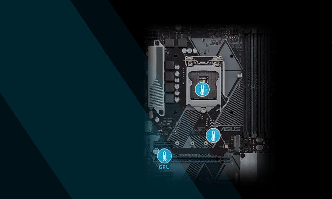 Płyta główna Asus PRIME H310M-D aplikacja chłodniejsza konstrukcja