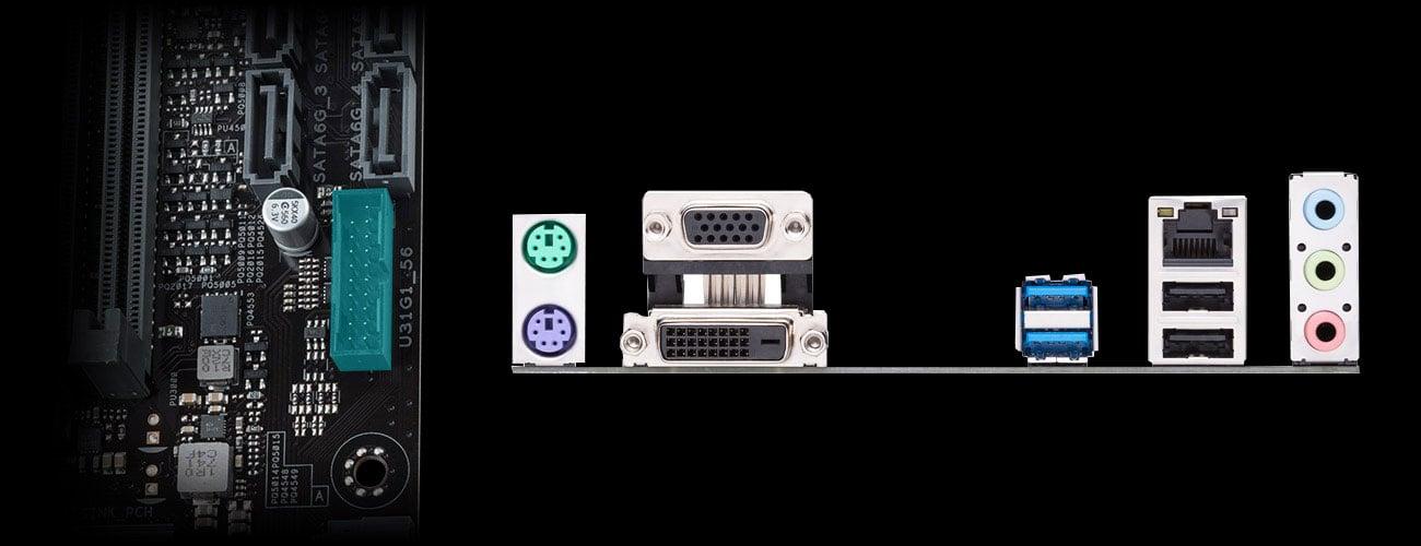 ASUS PRIME H310M-K R2.0 - Złącza
