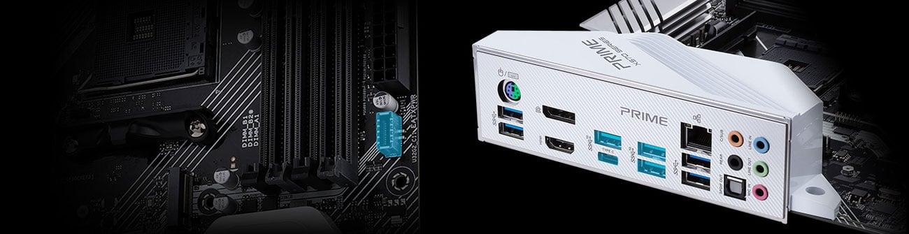 ASUS PRIME X570-PRO - Złącza LAN, USB