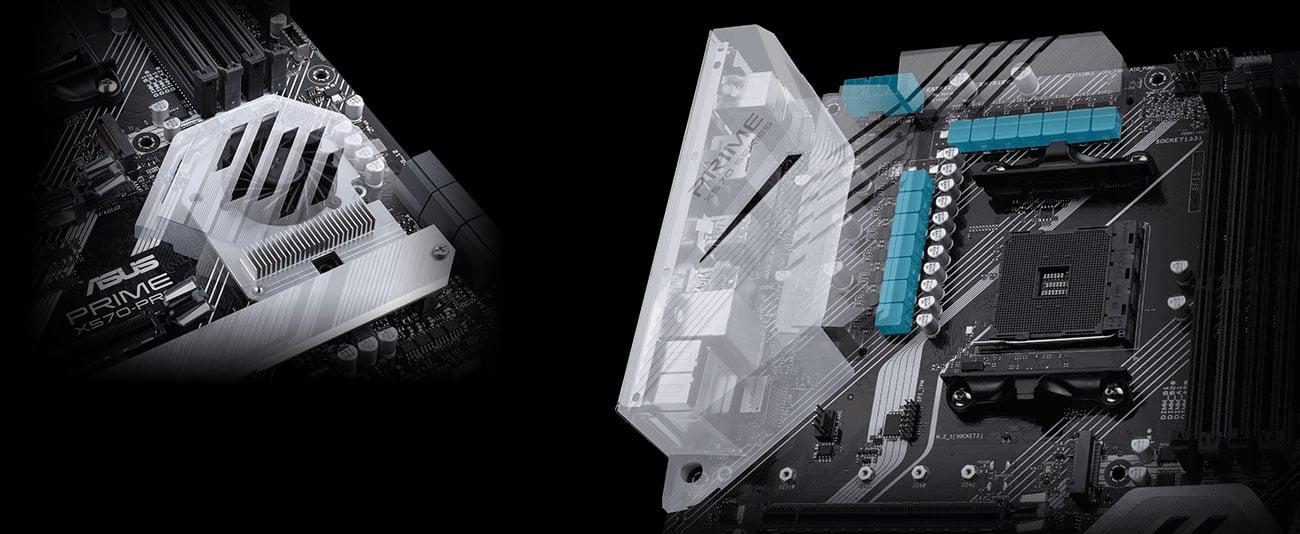 ASUS PRIME X570-PRO - Chłodzenie