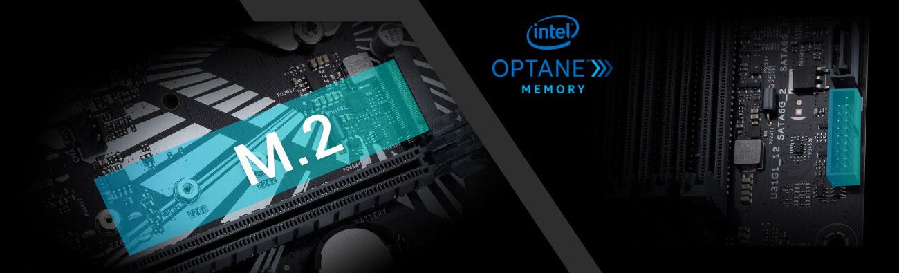ASUS PRIME Z370M-PLUS II Złącza M.2, USB, Intel Optane