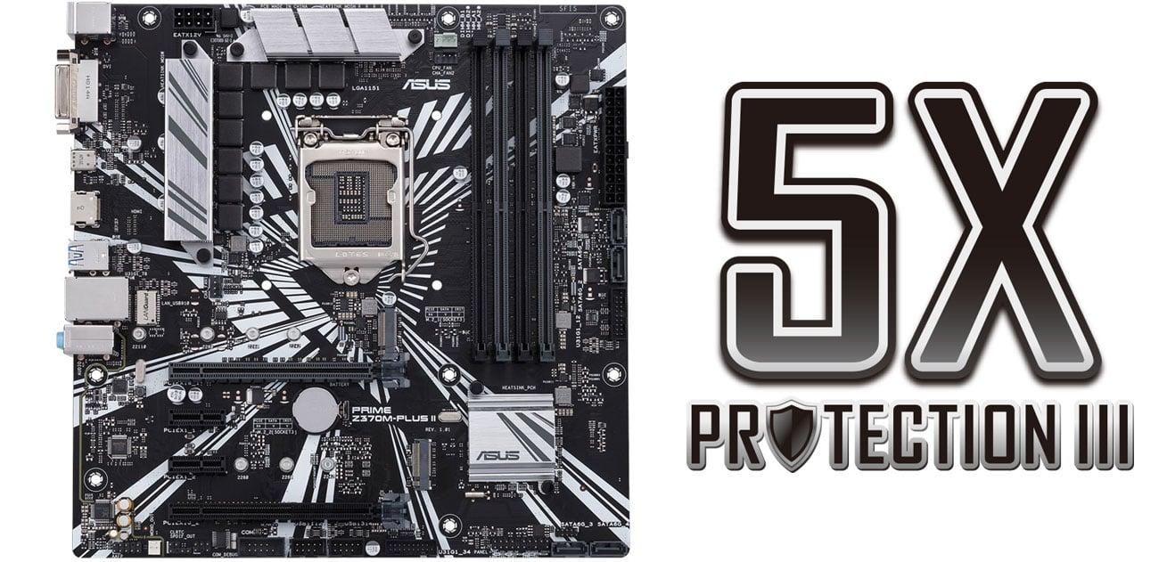 ASUS PRIME Z370M-PLUS II Ochrona 5X Protection III