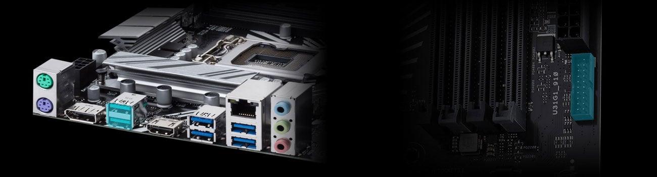 ASUS PRIME Z390-P Złącza USB
