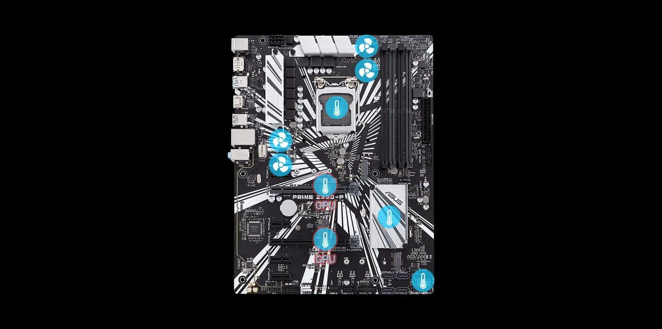 ASUS PRIME Z390-P Chłodzenie z Fan Xpert 4