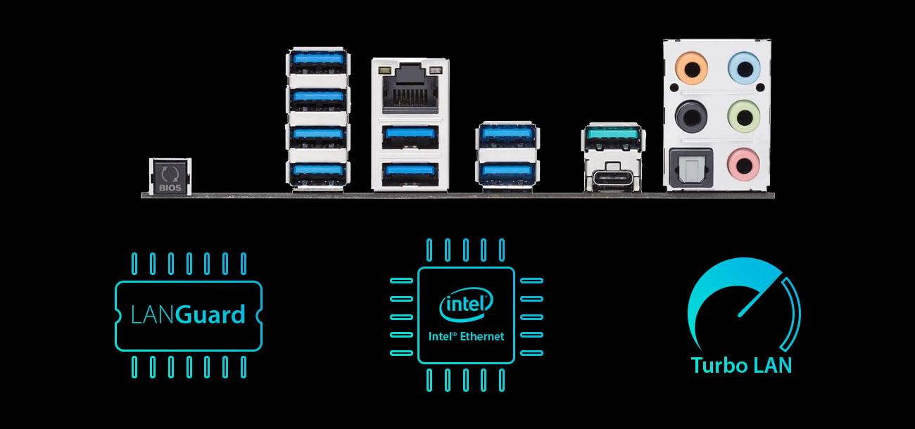 ASUS PRIME X399-A Intel Ethernet, Lan Guard, Turbo LAN